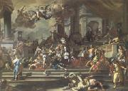Francesco Solimena Heliodorus Chased from the Temple (mk05) oil painting artist