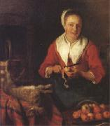 Gabriel Metsu The Busy Cook (nk05) oil painting artist