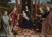 Gerard David The Mystic Marriage of St Catherine (mk08) oil painting reproduction
