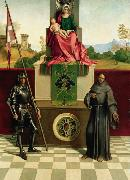 Giorgione Virgin and Child with SS Francis and Liberalis (mk08) oil painting