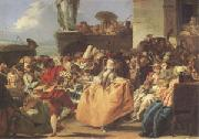 Giovanni Battista Tiepolo Carnival Scene or the Minuet (mk05) oil painting on canvas