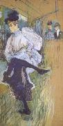 Henri  Toulouse-Lautrec Jane Avril Dancing (mk06) oil painting