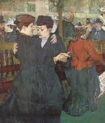 Henri de toulouse-lautrec Two Women Dancing at the Moulin Rouge (mk09) oil painting reproduction