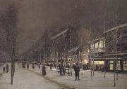Hippolyte camille delpy Boulevard Barbes-Roche-chouart in de winter (san24) oil painting on canvas