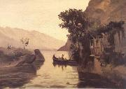 Jean Baptiste Camille  Corot Vue de Riva (mk11) oil painting reproduction