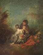 Le Faux Pas(The Mistaken Advance) (mk05), Jean-Antoine Watteau