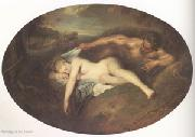 Jean-Antoine Watteau Jupiter and Antiope (mk05) oil painting reproduction