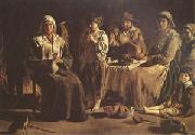 Louis Le Nain Peasant Family in an Interior (mk05) oil painting artist
