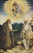 PISANELLO The Virgin and Child with the Saints George and Anthony Abbot (mk08) oil painting