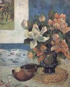 Paul Gauguin Still Life with Mandolin (mk06) oil painting reproduction