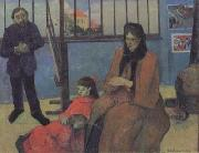 Paul Gauguin The Sudio of Schuffenecker or The Schuffenecker Family (mk07) oil painting on canvas