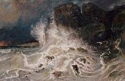Paul Huet Breakers at Granville (mk09) oil painting artist