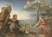 Philipp Otto Runge Rest on the Flight into Egypt (mk09) oil painting