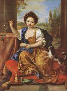 Pierre Mignard Girl Bloing Soap Bubbles (mk08) oil painting reproduction