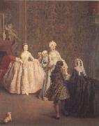 Pietro Longhi The Introduction (mk05) oil painting