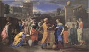 Poussin Eliezer and Rebecca (mk05) oil painting on canvas