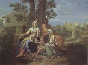 Poussin The Holy Family in a Landscape (mk05) oil painting on canvas