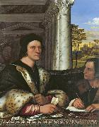 Sebastiano del Piombo Cardinal Carondelet and his Secretary (mk08) oil painting on canvas