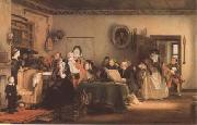 Sir David Wilkie Reading the Will (mk09) oil painting