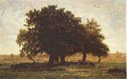 Group of Oaks at Apremont in the Forest of Fontainebleau (mk05), Theodore Rousseau