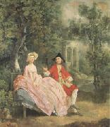 Conversation in a Park(perhaps the Artist and His Wife) (mk05), Thomas Gainsborough