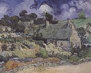 Thatched Cottages at Cordeville,at Auvers-sur-Oise (mk06), Vincent Van Gogh