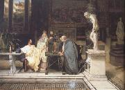 Alma-Tadema, Sir Lawrence A Roman Art Lover (mk23) oil painting reproduction