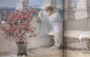 Her Eyes Are with her Thoughts and They Are Far Away (mk23), Alma-Tadema, Sir Lawrence