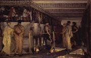 Phidias Showing the Frieze of the Parthenon to his Friends (mk23), Alma-Tadema, Sir Lawrence