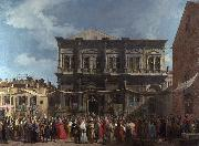 Canaletto Visita del doge alla chiesa di S Rocco (mk21) oil painting reproduction