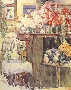 Childe Hassam Celis Thaxter's Sitting Room (nn02) oil painting