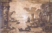 Claude Lorrain Embarkation of the Queen of Sheba (mk17 oil painting reproduction