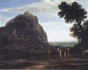 Claude Lorrain View of Delphi with a Procession (mk17) oil painting on canvas