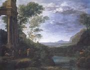 Claude Lorrain Landscape with Ascanius Shooting the Stag (mk17)