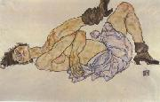 Egon Schiele Reclining Female Nude (mk12) oil painting on canvas