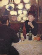 Federico zandomeneghi At the Cafe de la Nouvelle Athenes oil painting