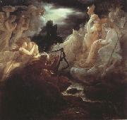 Ossian on the Bank of the Lora,Invoking the Gods to the Strains of a Harp (mk22)