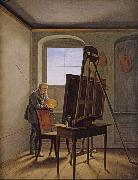 Georg Friedrich Kersting Friedrich in his Studio (mk10) oil painting