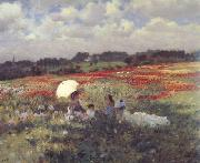 Giuseppe de nittis In the Fields Around London (nn02)