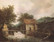 Jacob van Ruisdael Two Watermills and an open Sluice near Singraven (mk08) oil painting artist