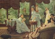 In The Conservatory (Rivals) (nn01), James Tissot