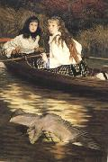 On the Thames a Heron (nn01), James Tissot