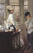 Reading The News (nn01), James Tissot
