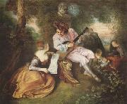 Scale of Love (mk08), Jean-Antoine Watteau