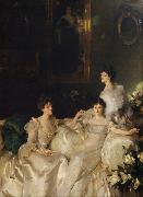 The Wyndham Sisters Lady Elcho,Mrs.Adeane,and Mrs.Tennanet (mk18), John Singer Sargent