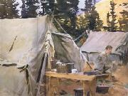 Camp at Lake O'Hara (mk18), John Singer Sargent