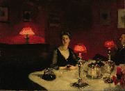 A Dinner Table at Night (The Glass of Claret) (mk18), John Singer Sargent