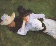 Two Girls on a Lawn (mk18), John Singer Sargent