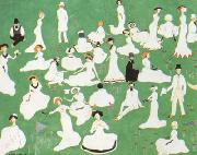 Repose Society in Top Hats (mk19), Kasimir Malevich