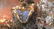 Mikhail Vrubel Seated Demon (mk19) oil painting